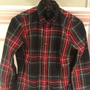 Jcrew tartan plaid dress shirt